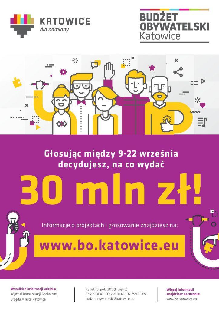 Plakat informujący o głosowaniu