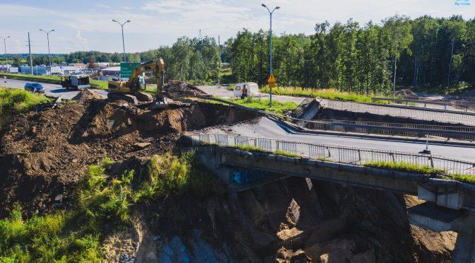 Udogodnienia na przebudowywanym węźle dróg krajowych 81 i 86
